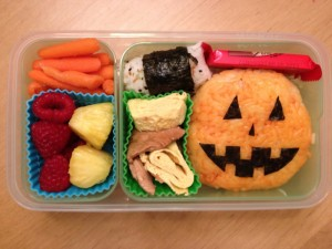 Halloween bento box for daughter